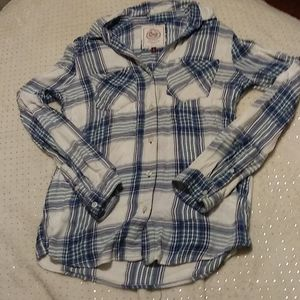 Blue Flannel Top